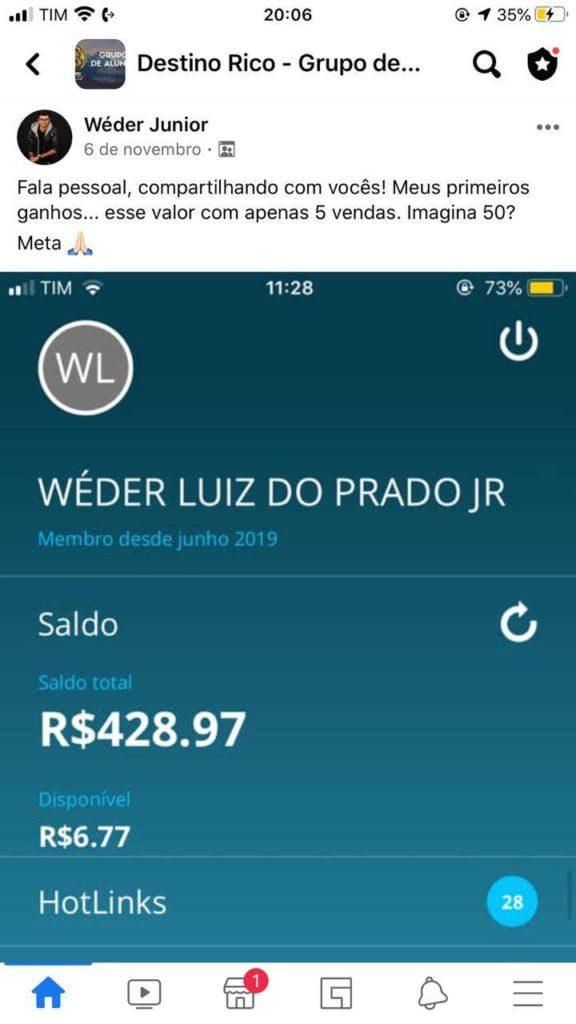 Destino RICO do Tiago Gomes desconto