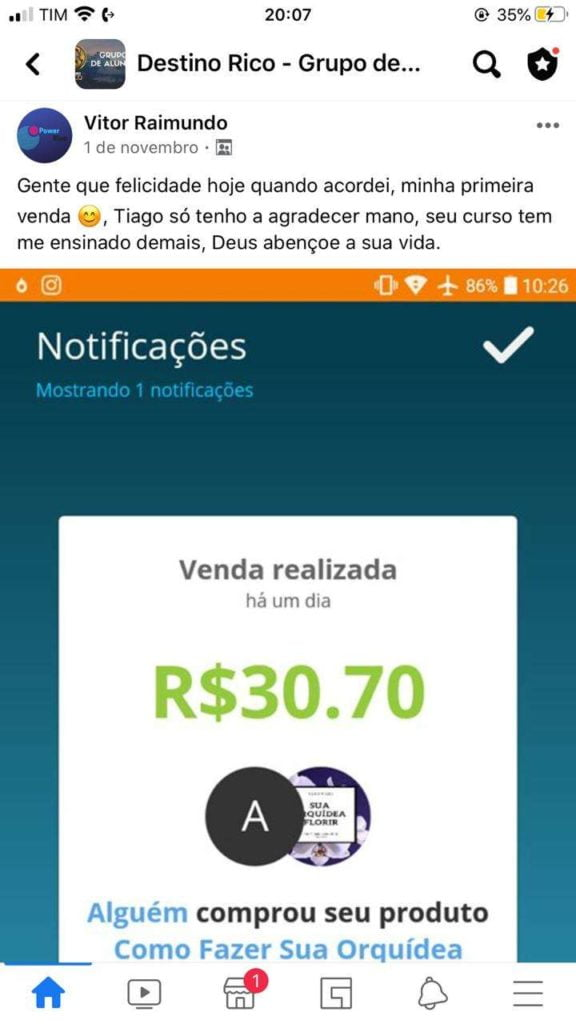 Destino RICO do Tiago Gomes cupom