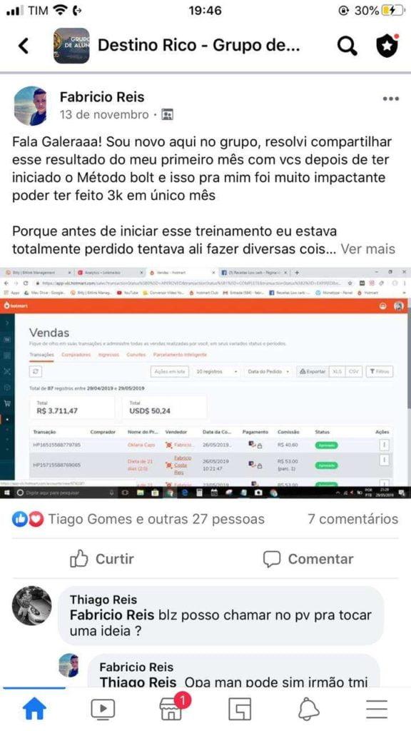 Destino RICO do Tiago Gomes resultado