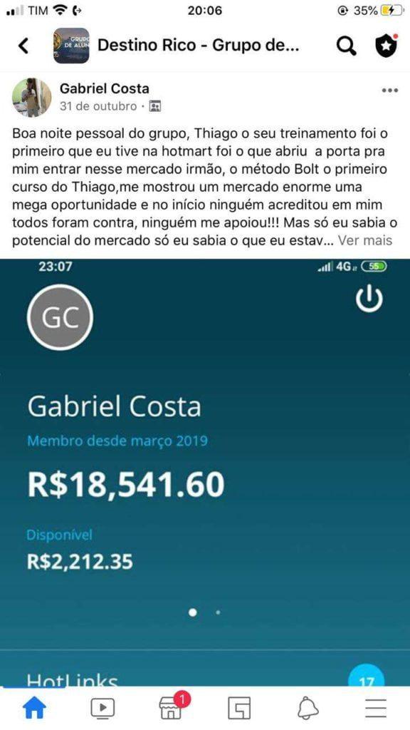 Destino RICO do Tiago Gomes depoimentos