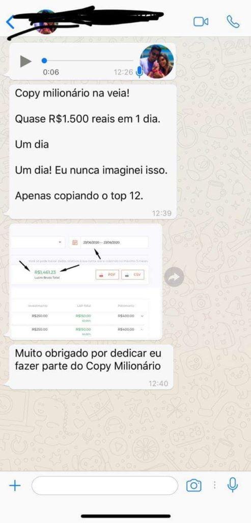 Copy Milionário É Seguro É Confiável