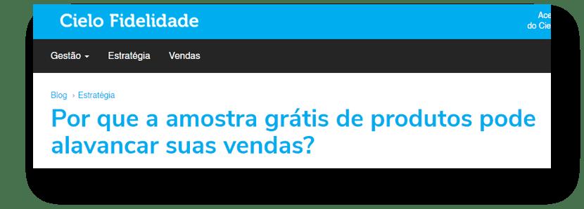 AMOSTRAS GRÁTIS