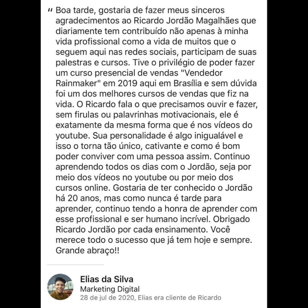 Curso VCT - Vendas Cura Tudo Ricardo Jordão funciona mesmo