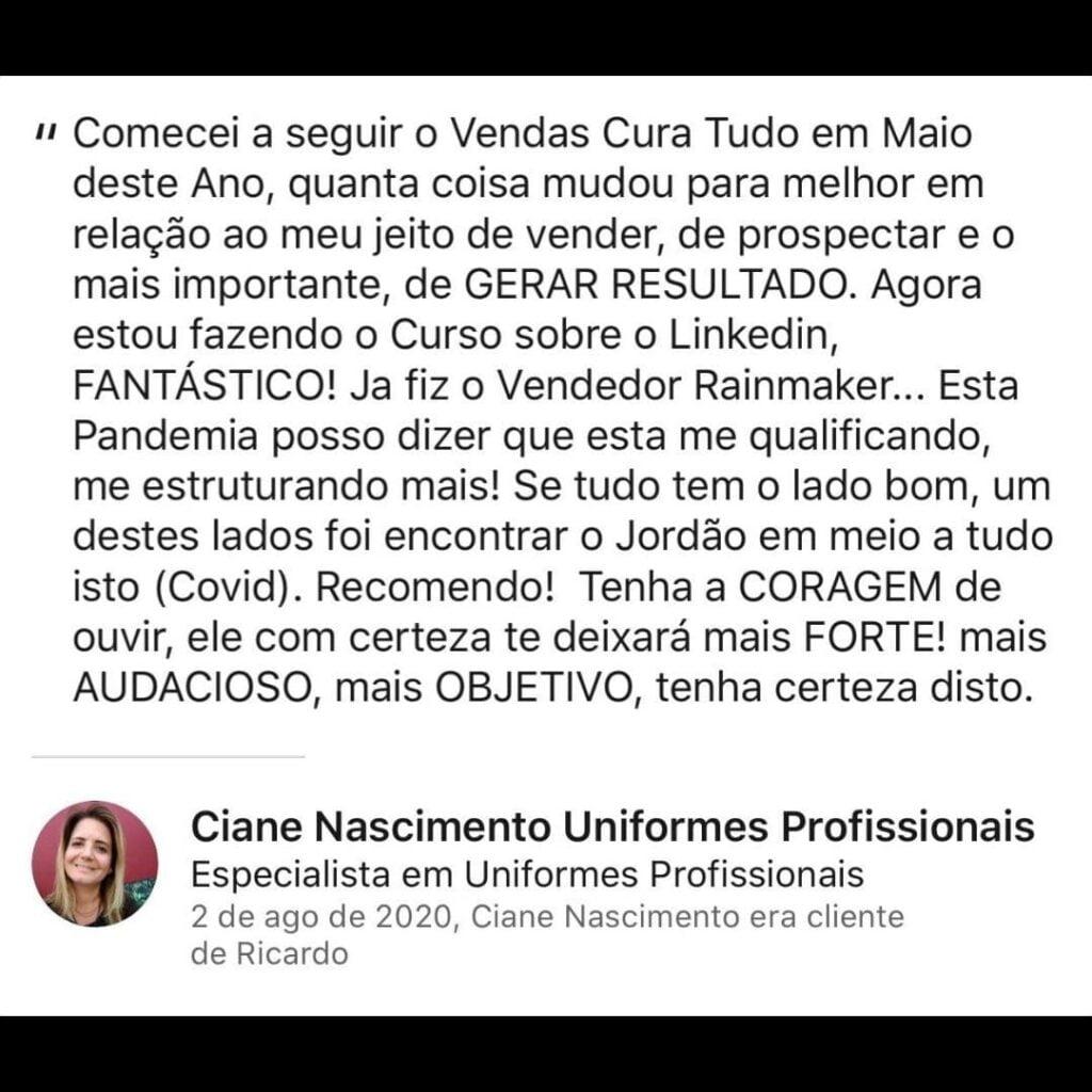 Curso VCT - Vendas Cura Tudo Ricardo Jordão é bom