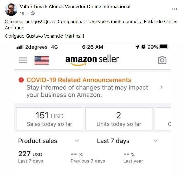 Vendedor Online Internacional Preço