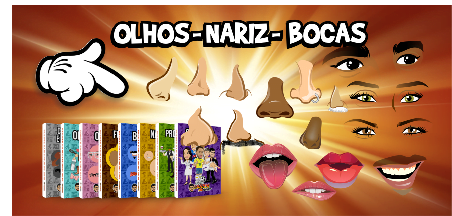 Pacotes Olhos Nariz Bocas - Caricaturbo Elite 21