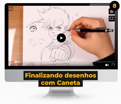 Finalizando desenhos com Caneta