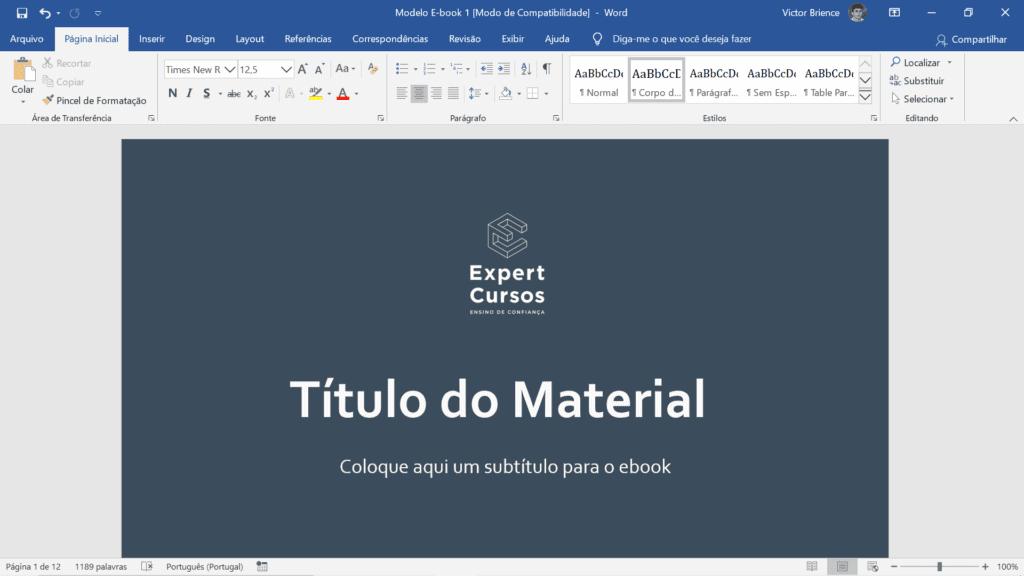 Formação Pacote Office - curso word