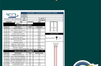 Sistema Serralheria - Cálculo De Cortes De Esquadrias + ORÇAMENTOS